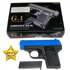 Galaxy G1 Blue Spring Powered Metal BB Gun Pistol 250 FPS