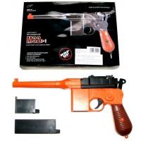 Double Eagle M32 Orange + Black Spring Powered Plastic BB Gun Pistol (Mauser Replica)