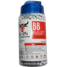 1 Tub of 2000 White 0.15g Plastic 6mm BB Gun Pellets
