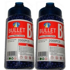 2 Tubs of 2000 Purple 0.15g Plastic 6mm BB Gun Pellets (4000 Pellets)