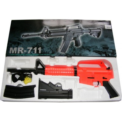 WELL MR711 M4 Spring Powered Plastic Airsoft BB Gun Rifle 320 FPS