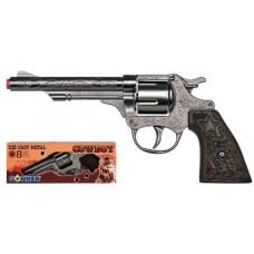 Gonher 20.5cm Diecast Metal 8-Shot Cowboy Style Cap Gun Pistol
