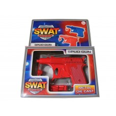 Red Metal Diecast Potato Spud Gun